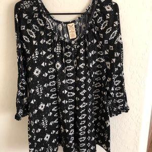 Cute design black blouse